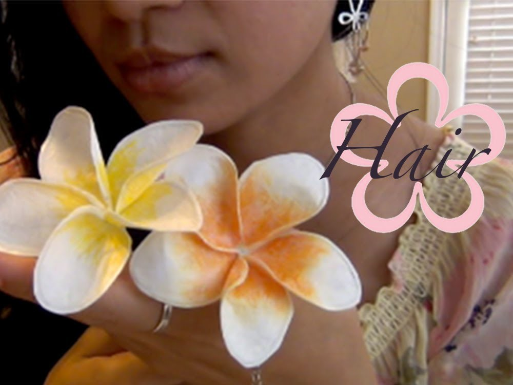 Recycle: BACK TO SCHOOL 2013.Plumeria Flower Hair Pen