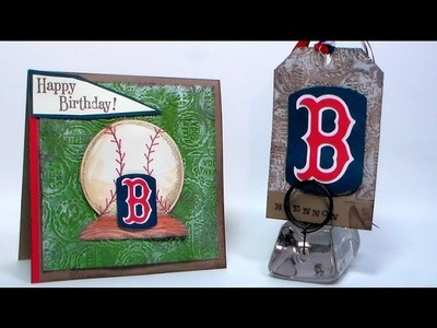 Red Sox Inspired Baseball Card & Tag (great for birthday and Father's day!)