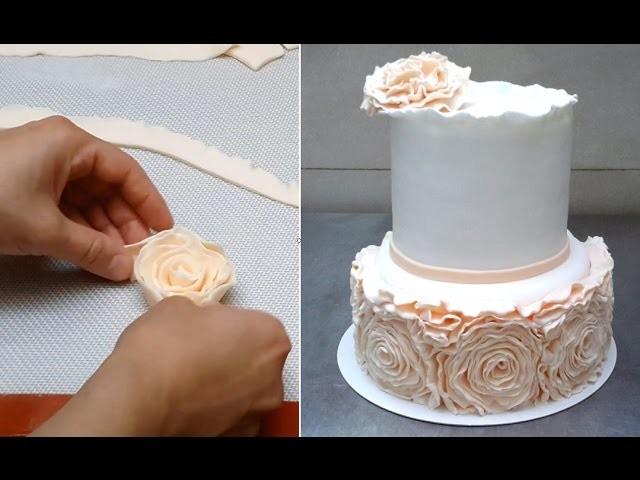 ROSE RUFFLE CAKE - HOW TO by CakesStepbyStep