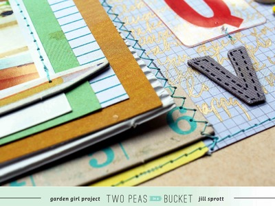 Scrap Your Stash: An Embedded Alphabet with Jill Sprott (Two Peas in a Bucket)