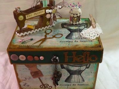 Sew Pretty Vintage Sewing Box