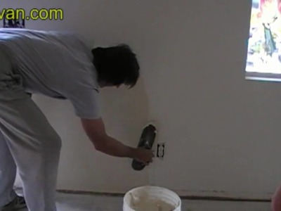Skim Coating Wall with Plaster over Existing Wall Texture