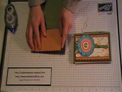 Stampin' Up! Tutorial~Mini Notepad Holder.MOD