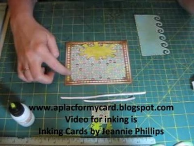Thoughts of Summer ~  Handmade Cards by Jeannie Phillips, How to Tutorial