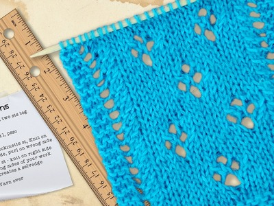 TRADITIONAL LACE SCARF - Classic  Lace Eyelets Explained Via Lace Chart.