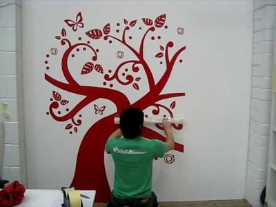 Tree Wall Sticker Supersized - How to fit