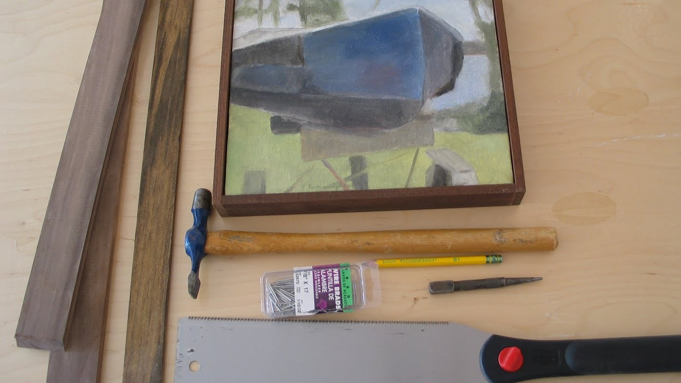 A Simple way to frame your art work, paintings by Jon Peters