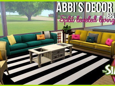 Abbi's Décor 101| Split Level Living Room | The Sims 3