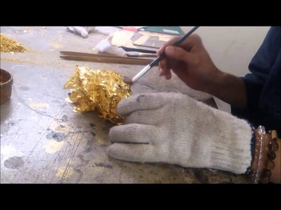 Amazing Japanese technique 『Work to add gold leaf to』