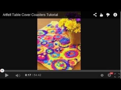 Artfelt Table Cover Coasters Tutorial