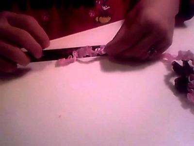 Box Pleated Trim Flower Video tutorial