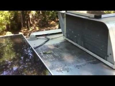 Cheap RV Solar Panel. PV, DIY Installed on an Avion Trailer