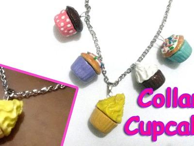 Collar de Cupcakes | Arcilla Polimérica. Porcelana Fría | Cupcake Jewelry Necklace Polymer Clay