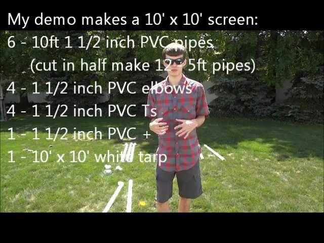 DIY: Inexpensive Indoor.Outdoor Projection Screen (How To)