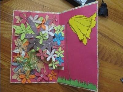 Drawn Flowers Pop Up Card