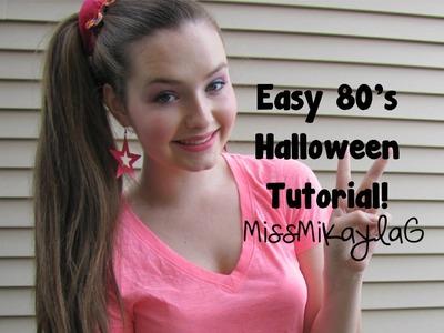 Easy 80's Halloween Tutorial!