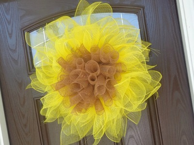 Easy Geo Mesh Sunflower Wreath Tutorial