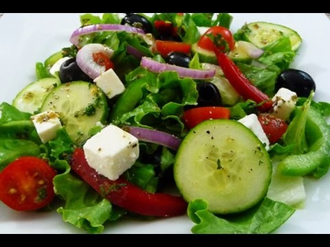 Easy Greek Salad recipe, super healthy and delicious, how to cook.