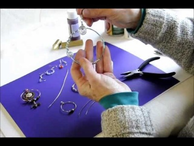 EASY HOW TO MAKE BASIC WIRE WRAPPED HOOPS FOR JEWELRY