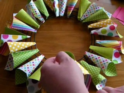 Echo Park Paper Cone Wreath Tutorial.wmv