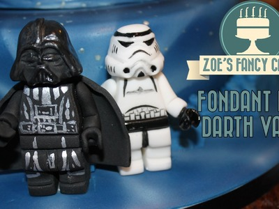 Fondant lego Darth Vader birthday cake topper How To Cake Tutorial