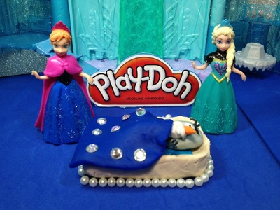 FROZEN Disney PlayDoh Frozen How to Make a Play-Doh bed for Olaf Disney Frozen Play Doh Video