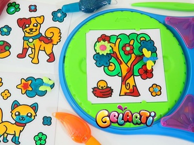 Gelarti Design Studio Playset Part 3 | Paint and Decorate Your Own Peel Off Stickers!