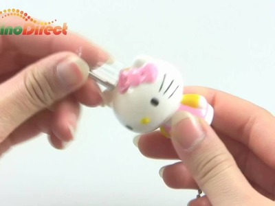 Hello Kitty Mascot Lock Padlock and Key Keyring Keychain 3 Pack - dinodirect
