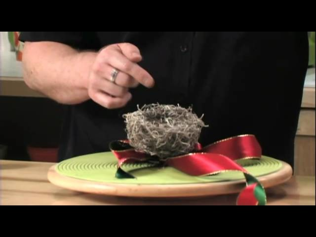 How to Arrange Flowers:  Create a NEST For your Christmas Tree!