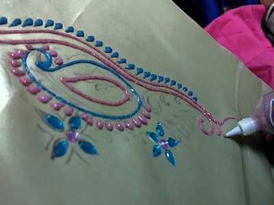 How to do with METAL color Zardosi embroideries