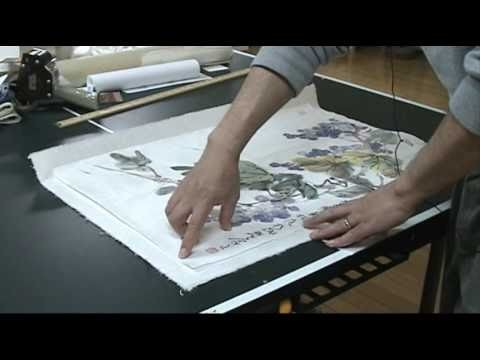 How to Dry Mount a Watercolor Painting done on Rice Paper onto another Sheet of Mulberry Rice Paper
