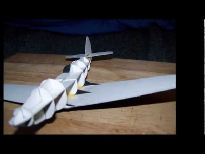 How to make a cool -  BELL P-39 AIRACOBRA Paper Model Airplane