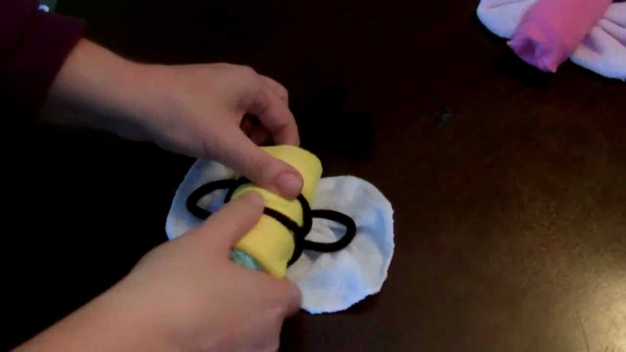 How to make a Diaper (cake) Butterfly.Bee.Dragonfly (for baby shower)