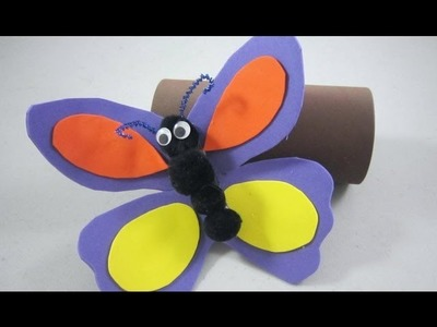 How to make a foam or cardstock butterfly to be used as a didactic tool for small children - EP