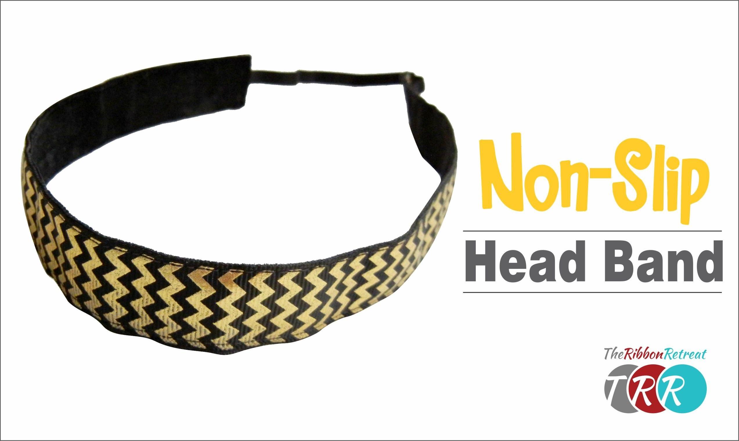 How to Make a Non Slip Workout Headband - TheRibbonRetreat
