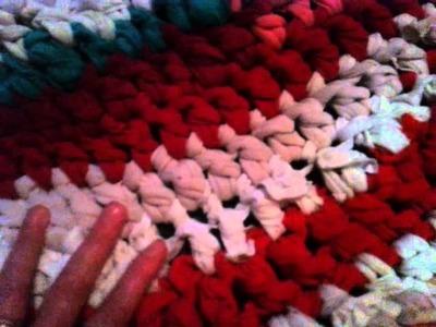 How to make a oval rag rug