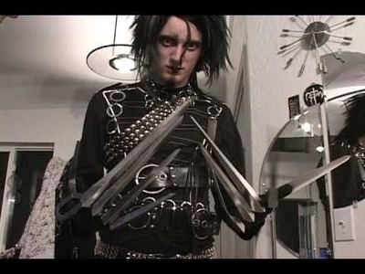 How to make a realistic costume.  Edward Scissorhands (only to watch for fun)