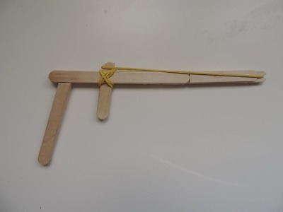 How To Make A Rubber Band Gun Out Of Popsicle Sticks. (Full HD)