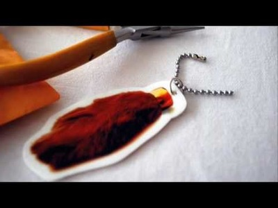 How to make a Shrinky Dink Rabbit's Foot Napkin Ring Keychain Favor for Guests