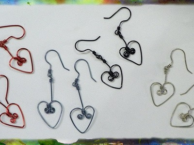 How to Make Dangling Heart-Shaped Earrings