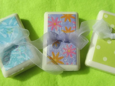 How to Make Decoupage Soap & Painted Soaps Ideas Wedding Favors