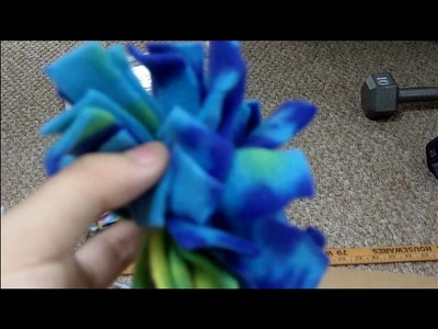 How to make fleece pom pom balls for your pets(no sewing)