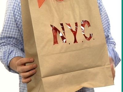 How to make gift bags from recycled brown paper bags