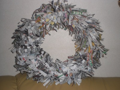 "How To make ""NEWS PAPER ""Wreath"" part 1"