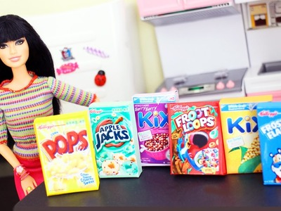 How to Make Realistic Doll cereal boxes - Easy Doll Crafts