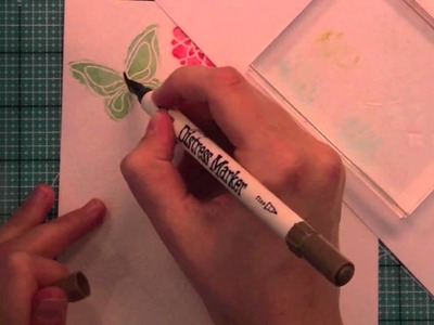 How to: marker watercolor + a card from start to finish { Lawn Fawn }