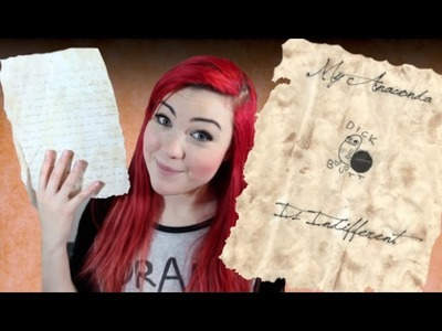 How to turn paper into parchment with tea