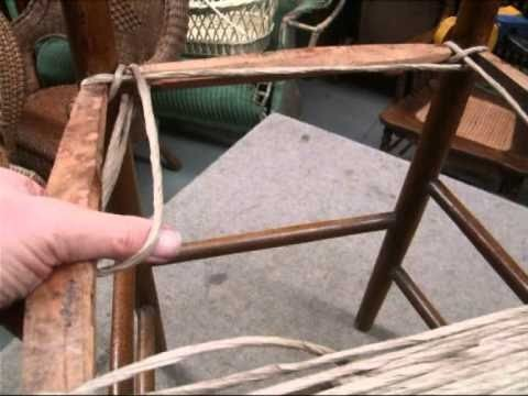 How To Weave Rush Style Seat Using Paper Cord