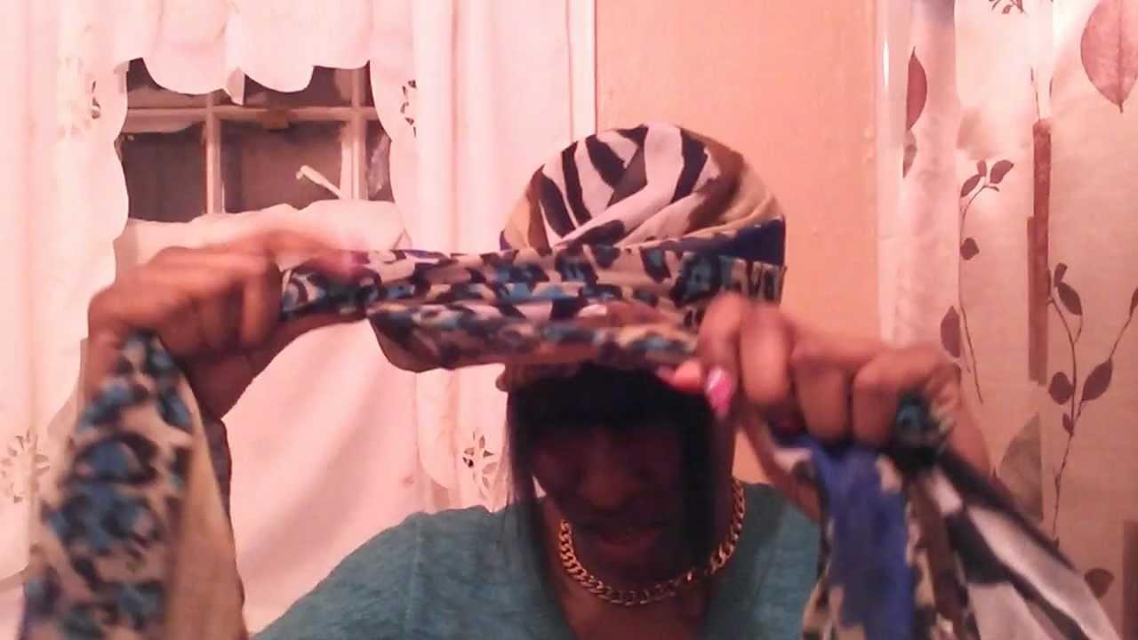 How to wrap a scarf into a front bun tutorial