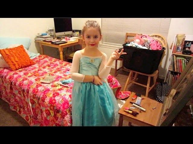 Kids Disney Frozen Makeup Tutorial Inspired by Queen Elsa